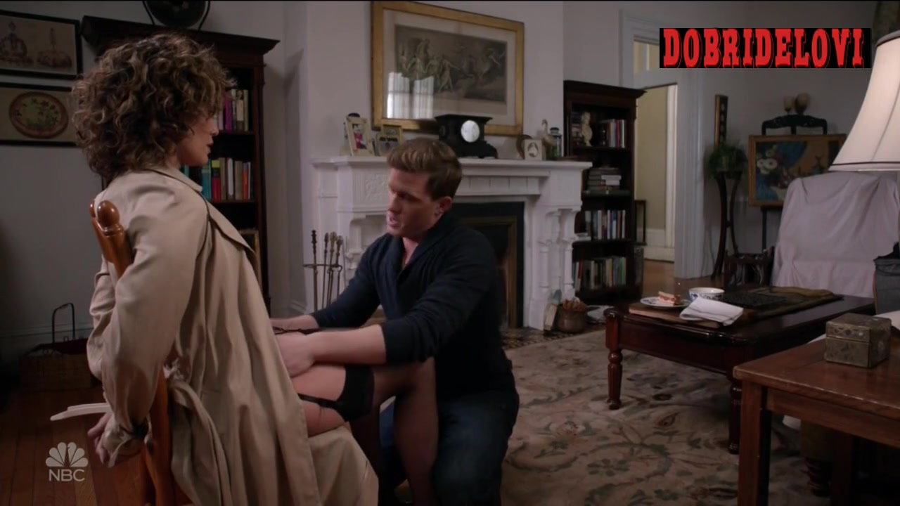 Jennifer Lopez tied to chair in lingerie scene from Shades of Blue