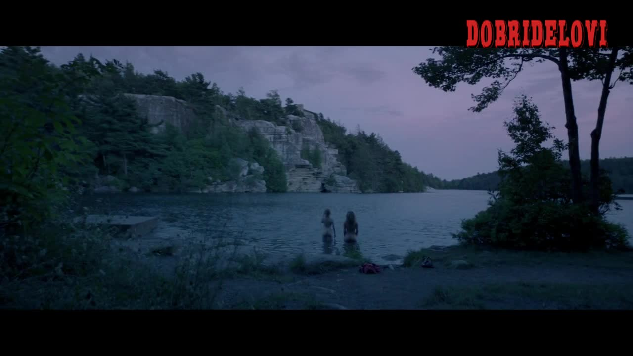 Julia Garner, Juno Temple skinny dipping scene from One Percent More Humid