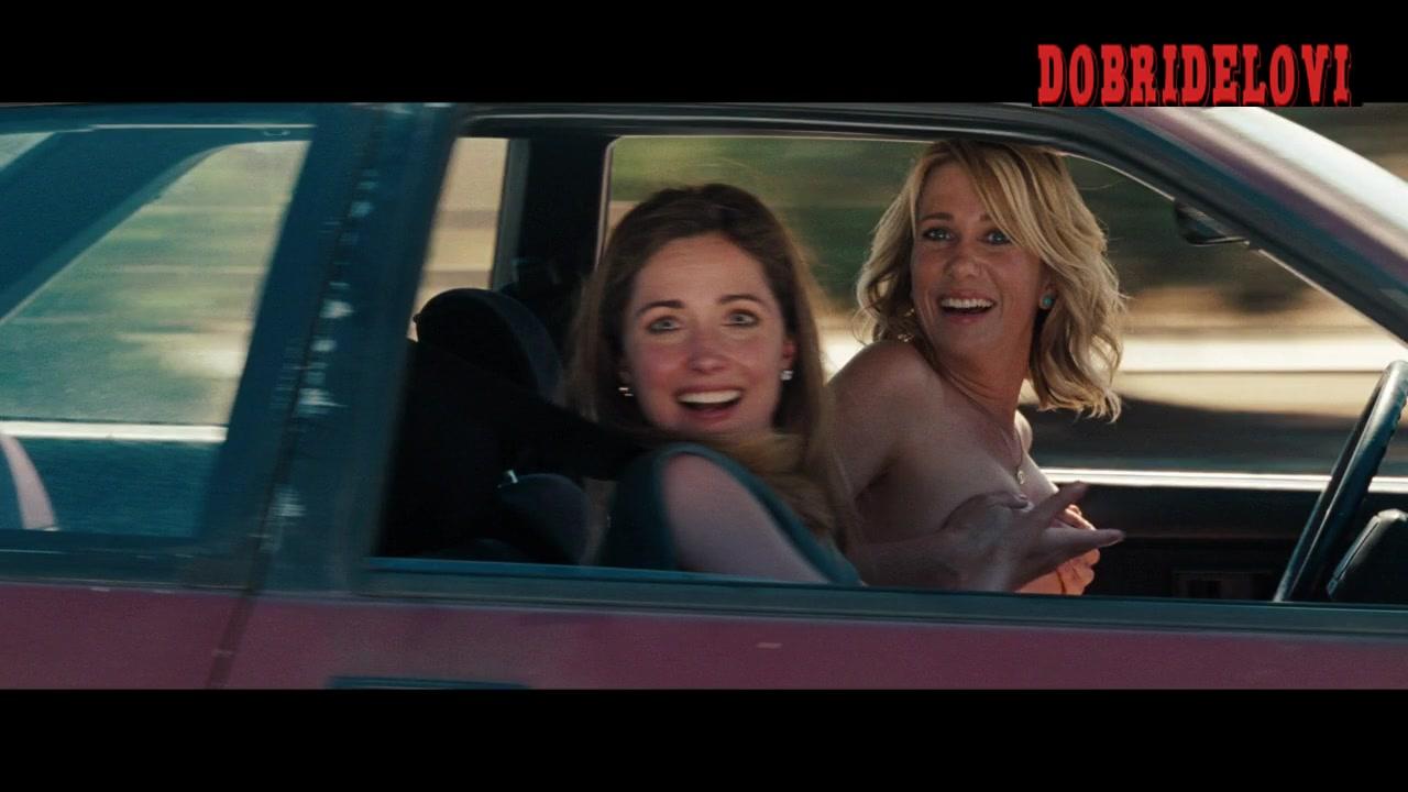 Kristen Wiig flashing boobs to cop scene from Bridesmaids