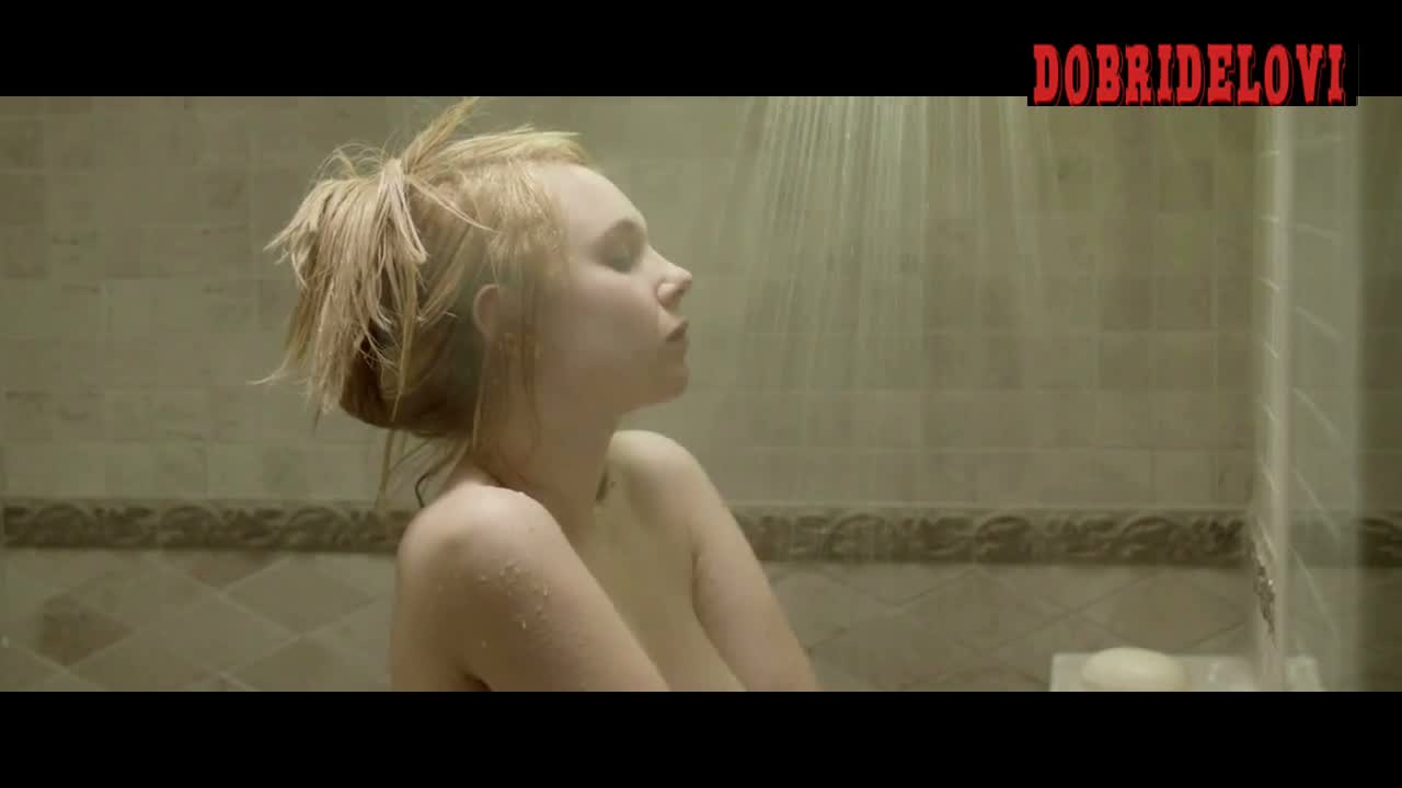 Juno Temple shower scene from The Brass Teapot