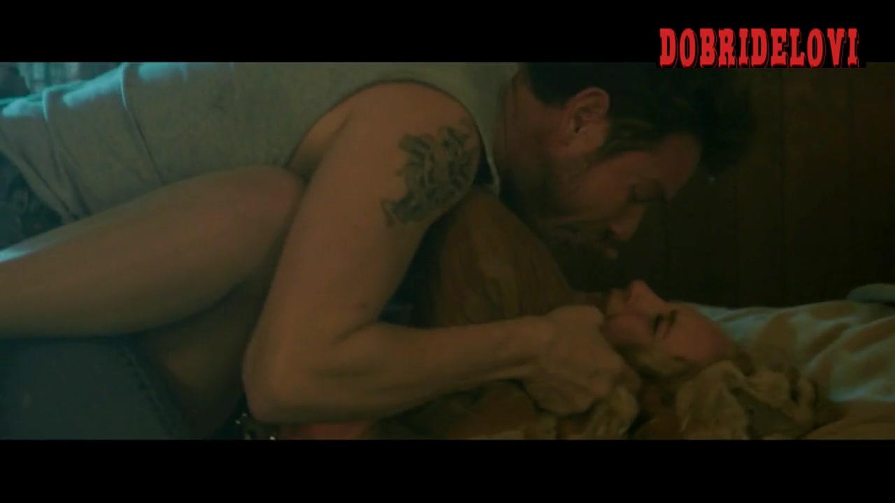 Juno Temple held down in bed scene from Safelight
