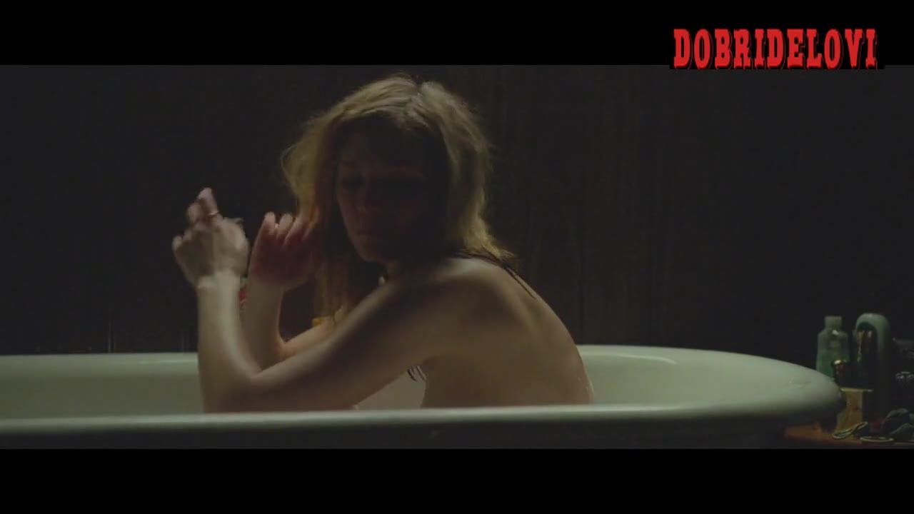 Louisa Krause lying in bath scene from Bluebird