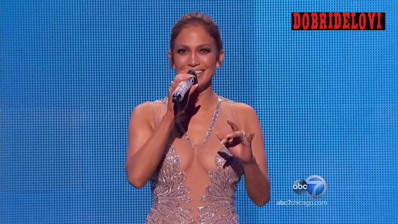 Jennifer Lopez hosting The American Music Awards
