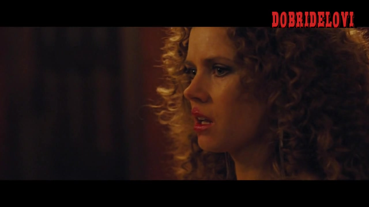 Watch Amy Adams, and Jennifer Lawrence lesbian scene from American Hustle video
