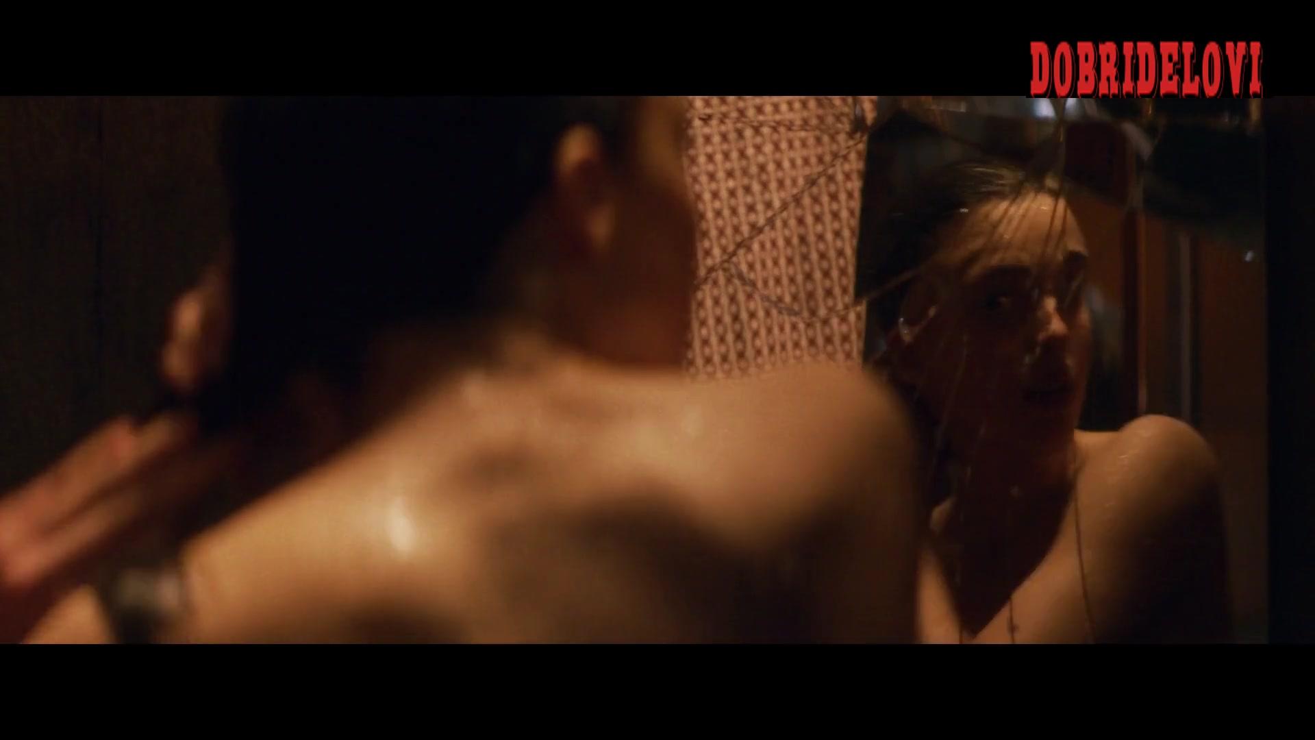 Watch Margaret Qualley shower scene from IO video