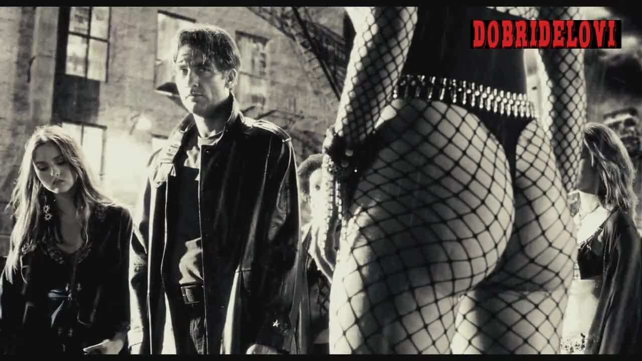 Rosario Dawson thong scene from Sin City
