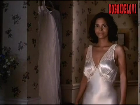 Halle Berry white satin nightgown scene from Introducing Dorothy Dandridge video image