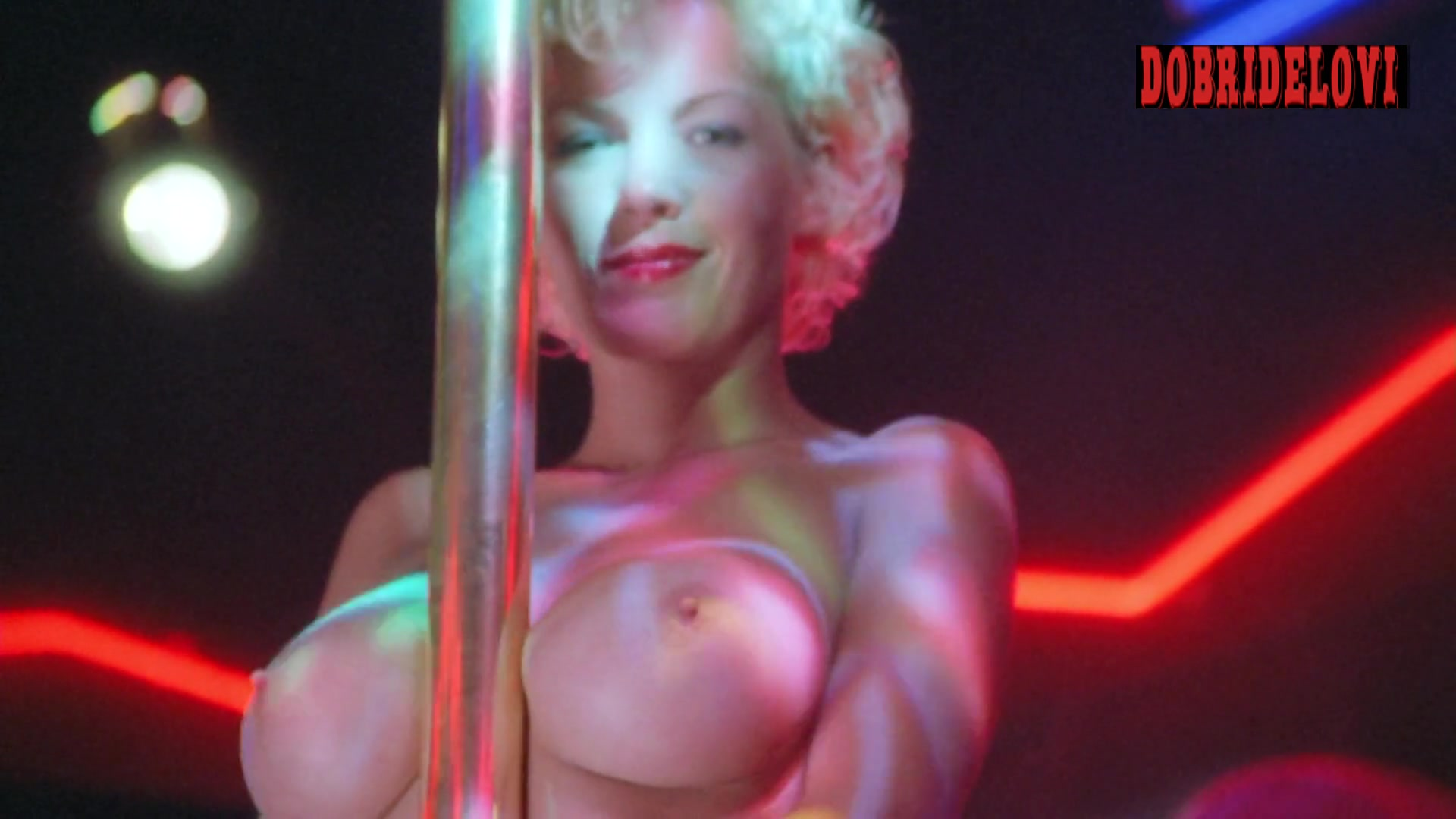 Julie K. Smith pole dancing scene from L.E.T.H.A.L. Ladies: Return to Savage Beach