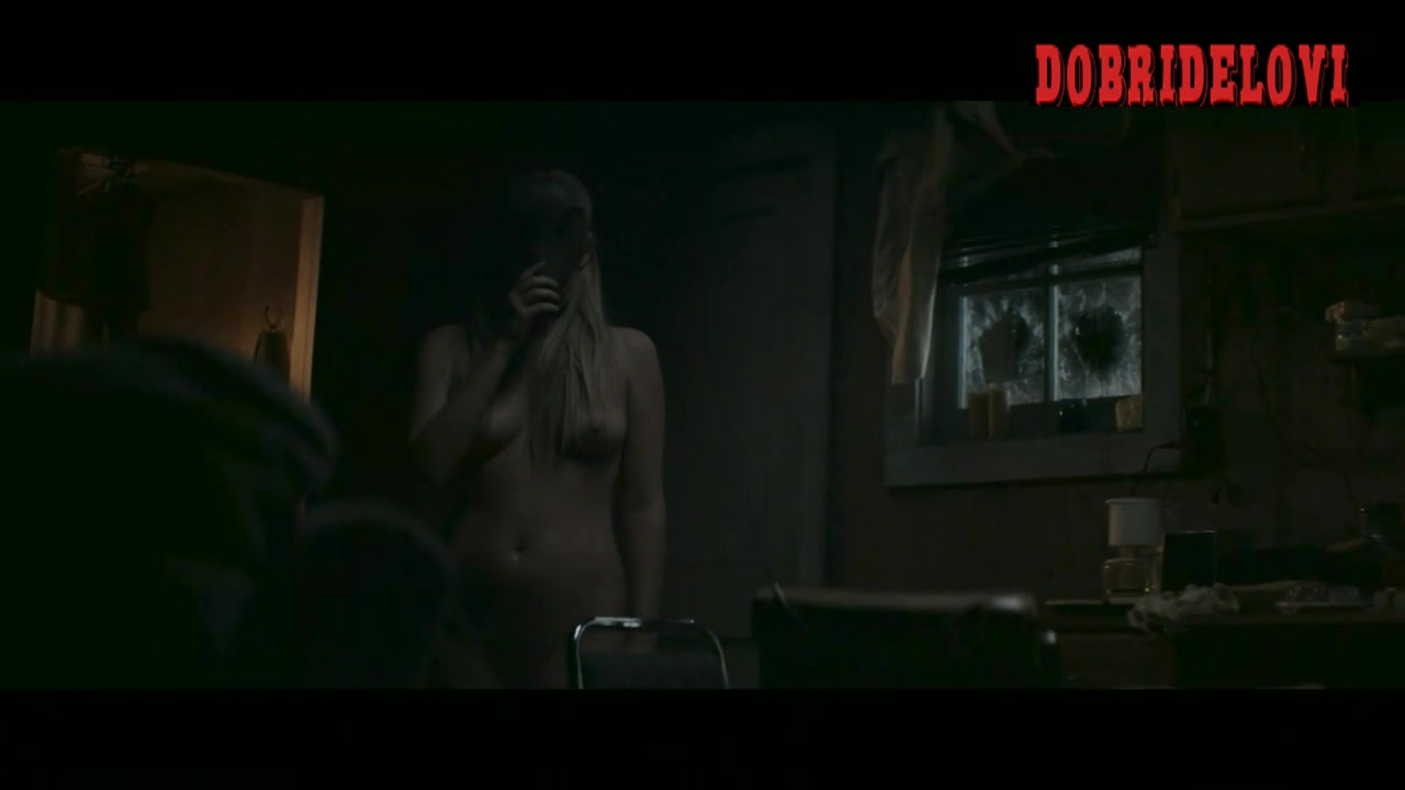 Riley Keough walking nude scene from Hold the Dark