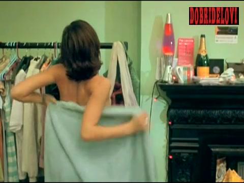 Jessica Alba wraps towel around self scene from Paranoid
