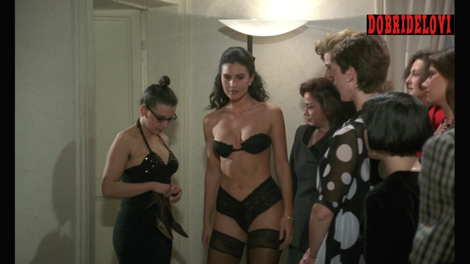 Monica Bellucci sexy black lingerie scene from The Raffle