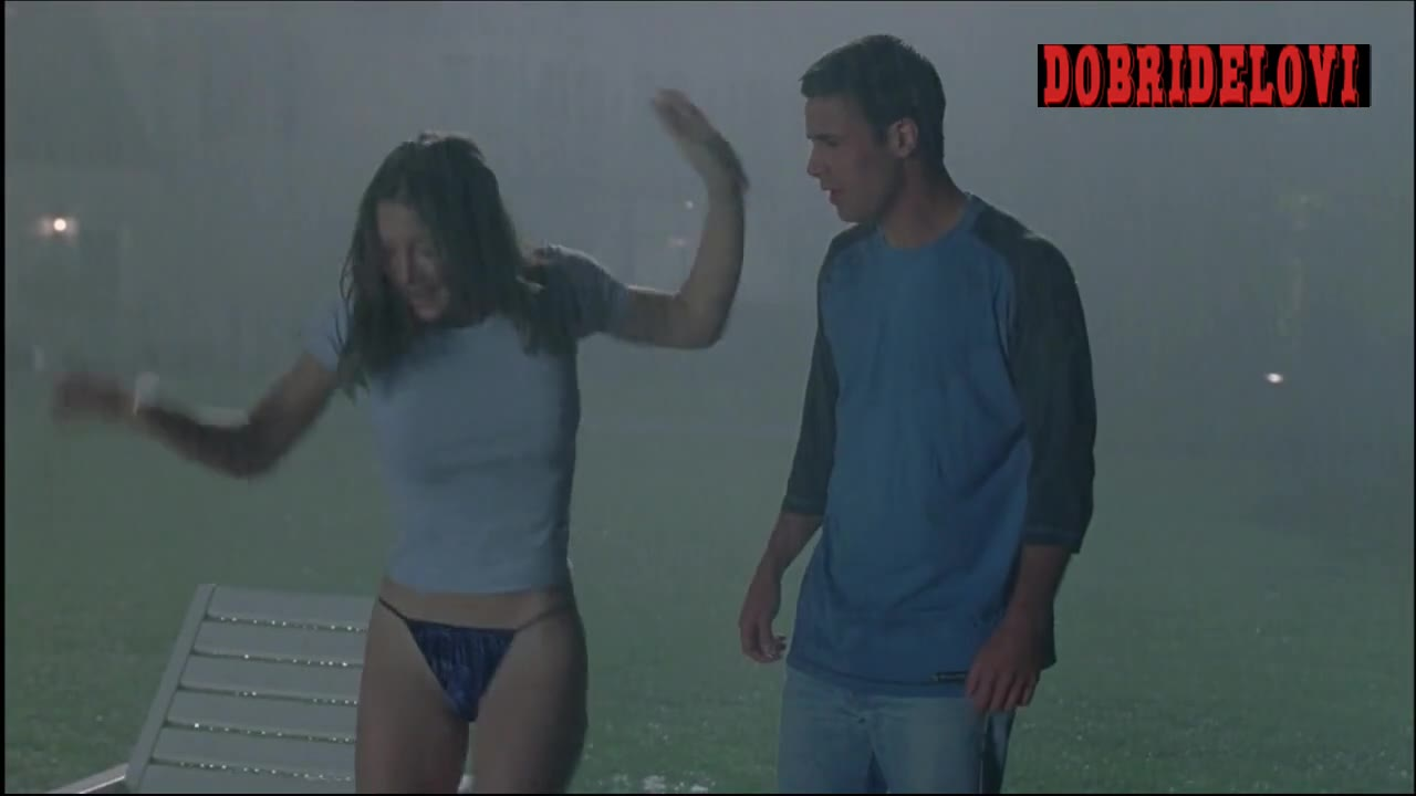Jessica Biel swimming in rain scene from Summer Catch