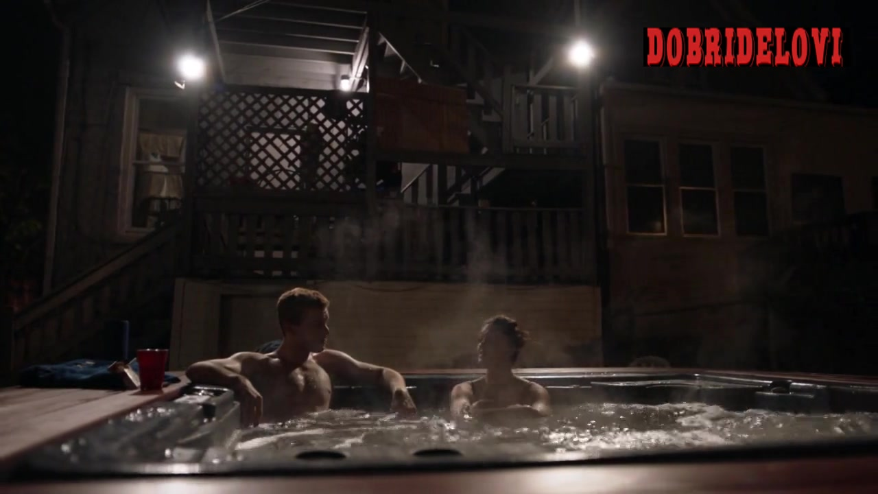 Emmy Rossum gets into the hot tub scene from Shameless