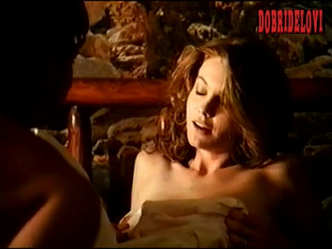 Diane Lane nude in bed scene from Descending Angel