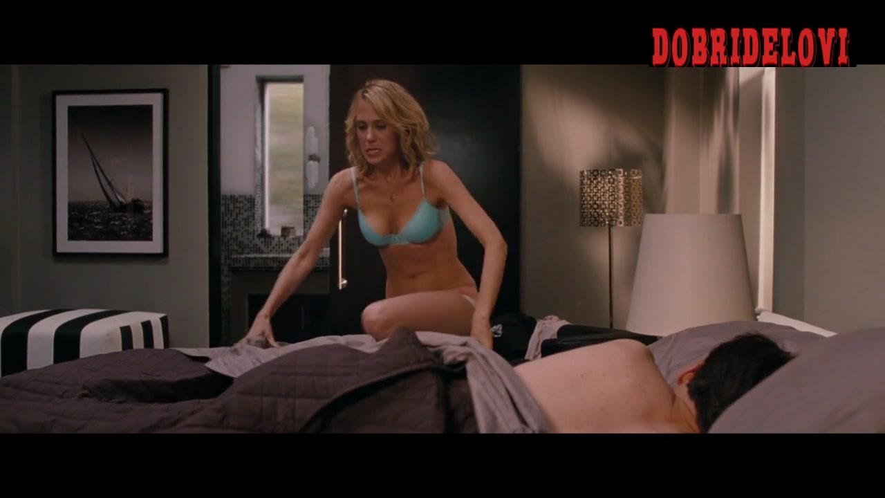 Kristen Wiig getting in bed scene from Bridesmaids