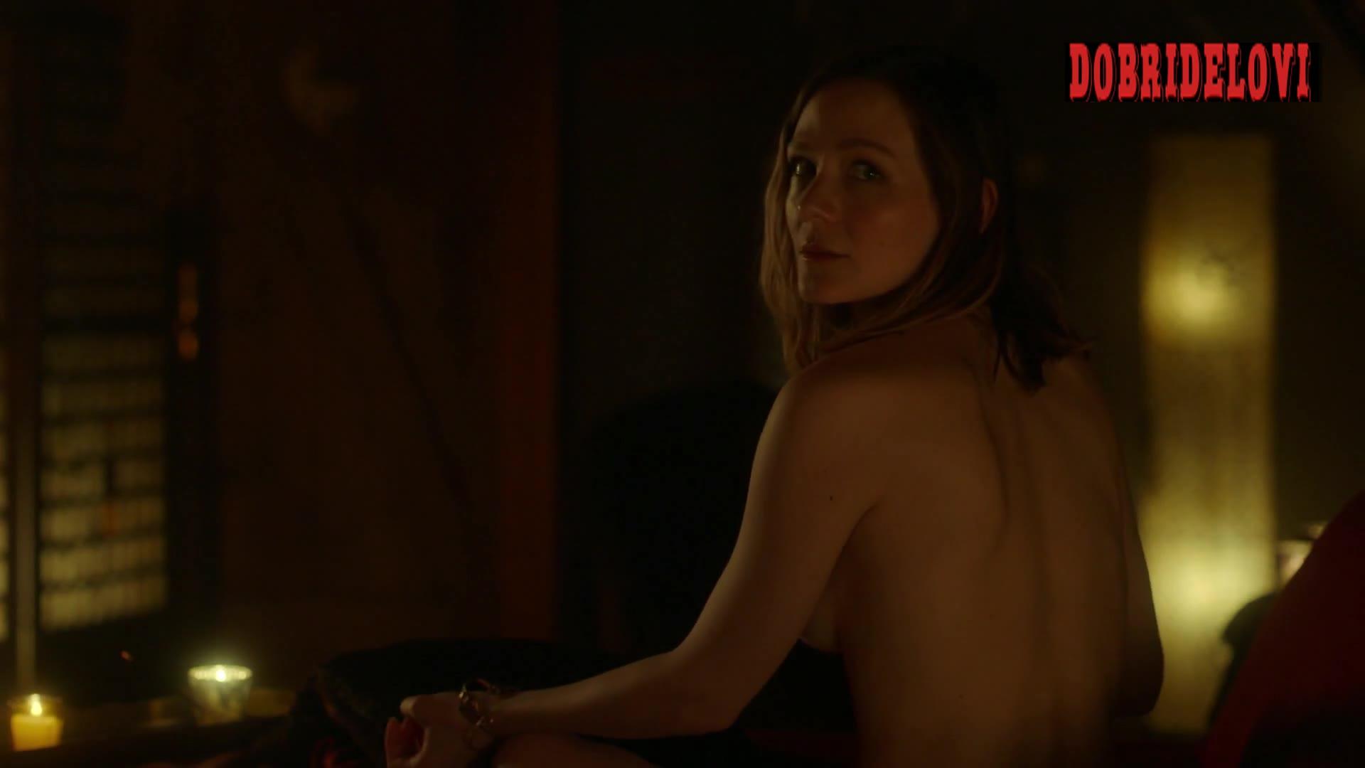 Louisa Krause side boob scene from Ray Donovan