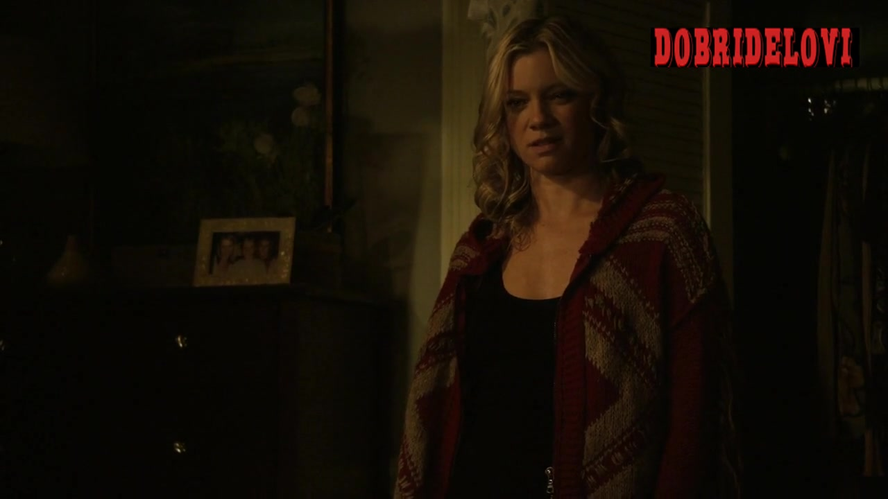 Amy Smart after sex scene from Justified