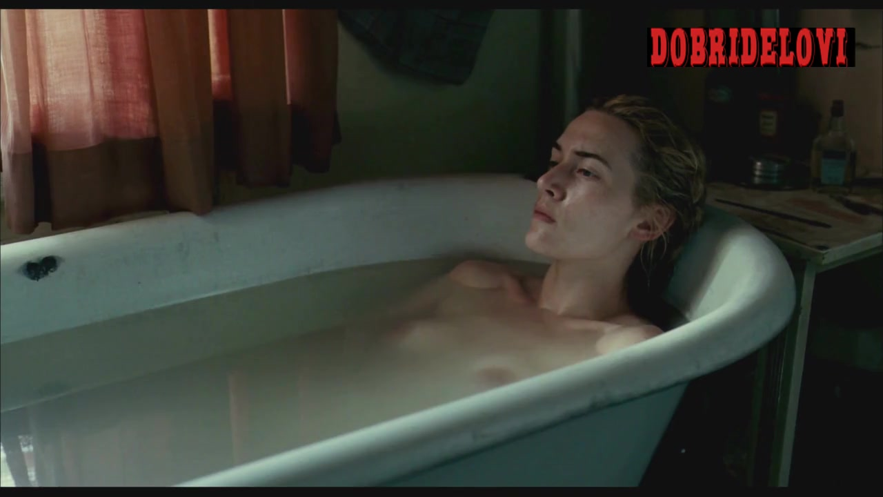 Kate Winslet undresses and gets into bathtub scene from The Reader
