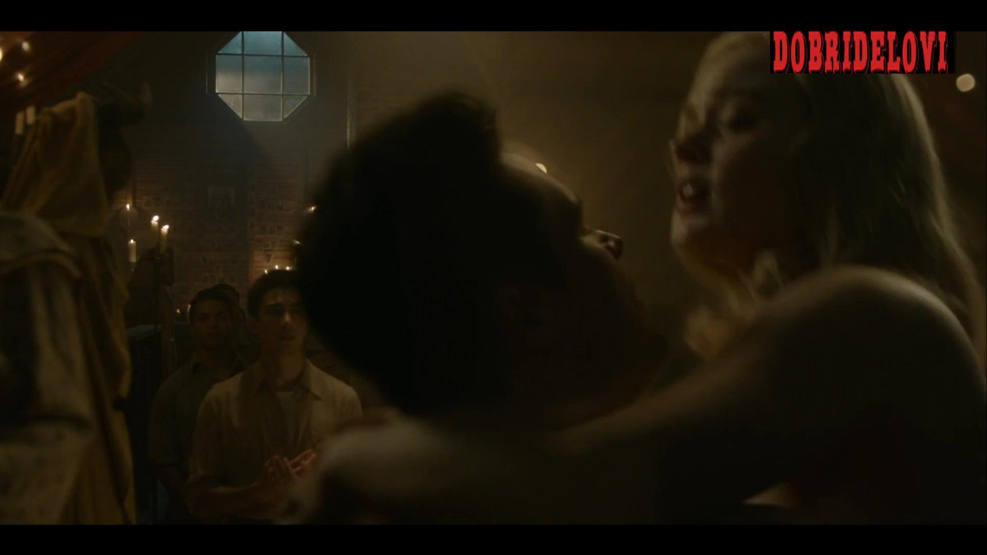 Watch Bella Heathcote public sex scene from Strange Angel video