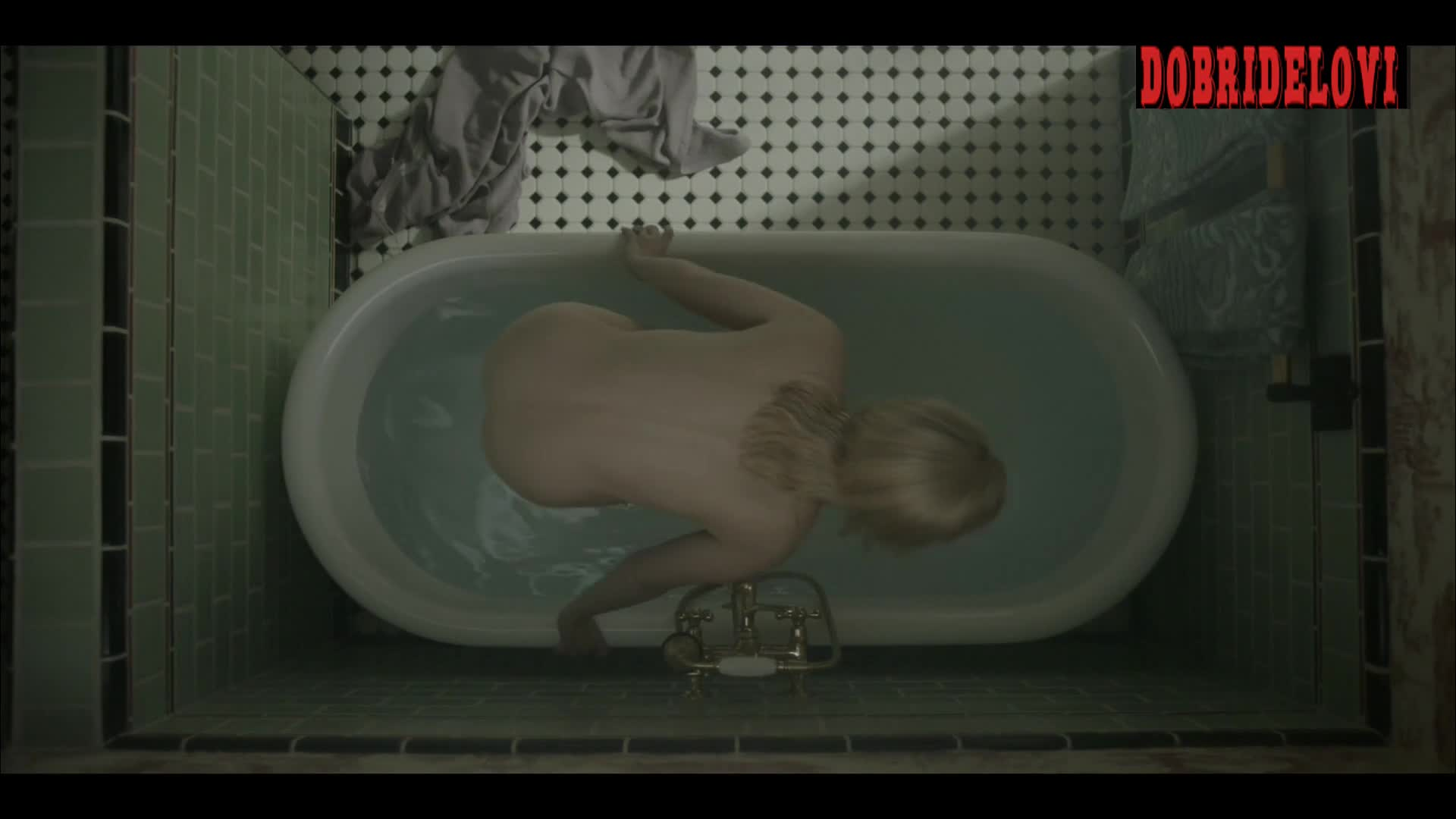 Watch Bella Heathcote bathtub scene from Strange Angel video