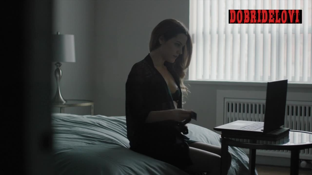 Riley Keough cam girl in hotel room scene from The Girlfriend Experience