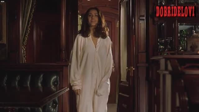 Salma Hayek pajamas with rear trapdoor scene from Wild Wild West