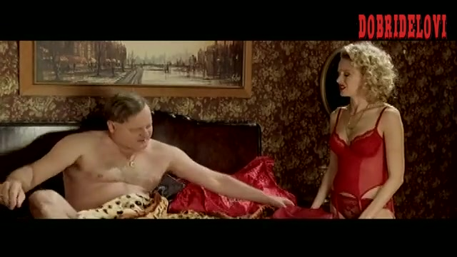 Naomi Watts red lingerie in bed scene from Undertaking Betty