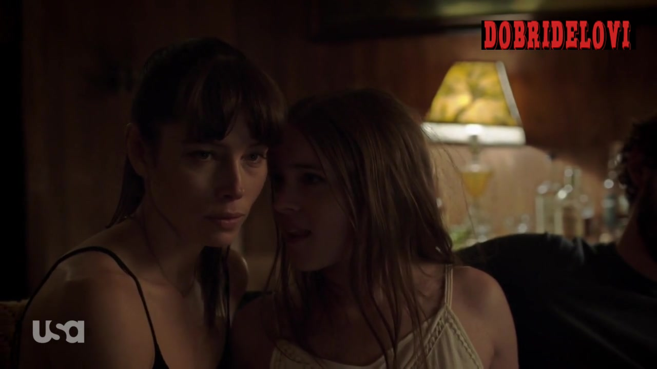 Jessica Biel and Nadia Alexander lesbian scene from The Sinner