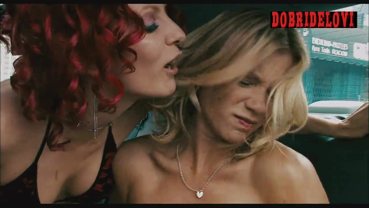 Amy Smart lesbian moves in car from Crank 2: High Voltage