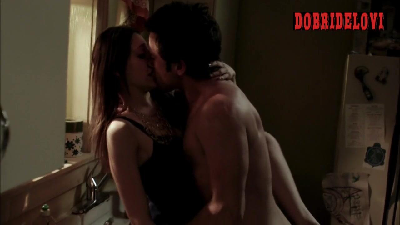 Emmy Rossum sex on counter scene from Shameless