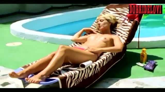 Watch Cayetana Guillén Cuervo poolside scene from Amor idiota video