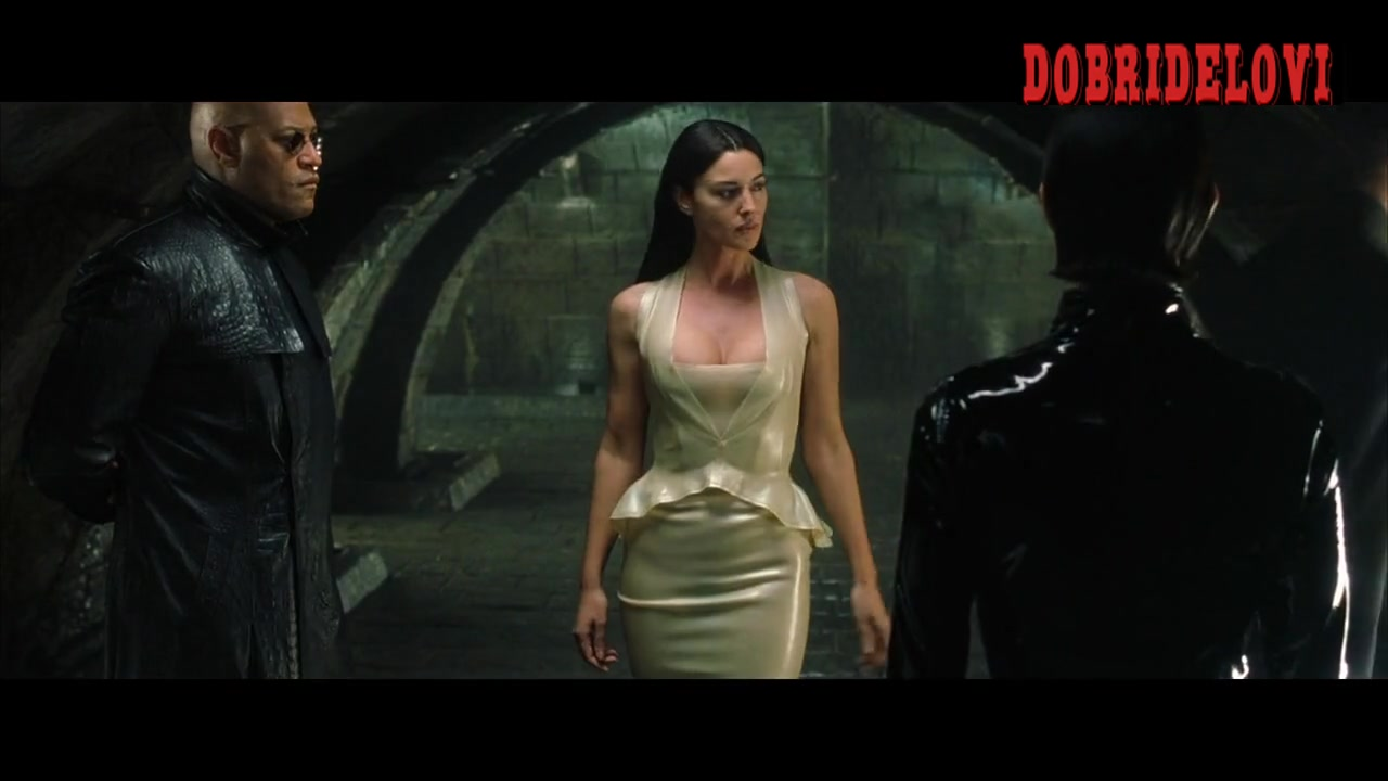Monica Bellucci sexy white dress scene from The Matrix Reloaded