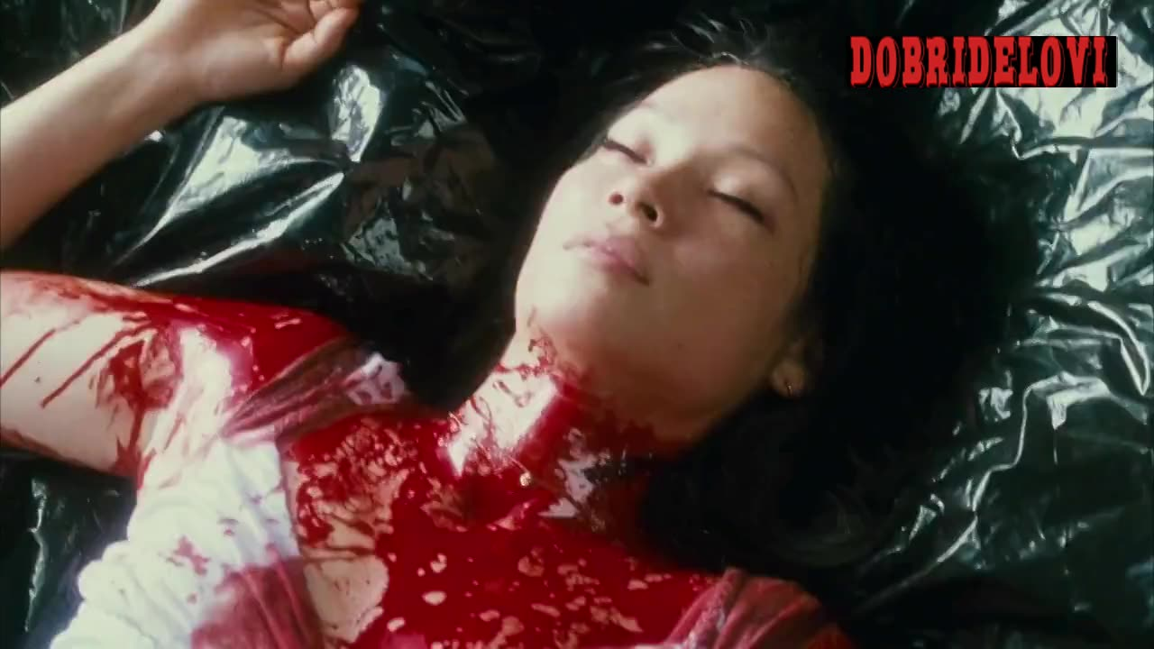 Lucy Liu bloody and nude scene from Rise: Blood Hunter