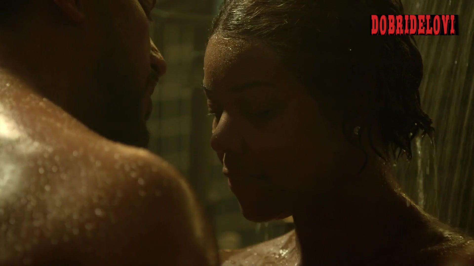 Gabrielle Union shower scene from L.A.'s Finest