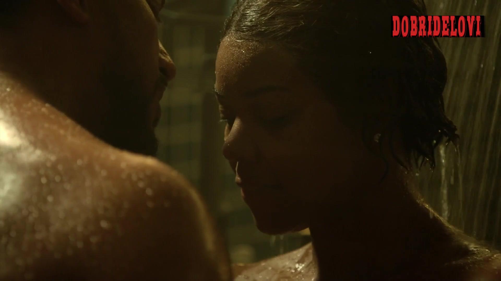 Watch Gabrielle Union shower scene from L.A.'s Finest video