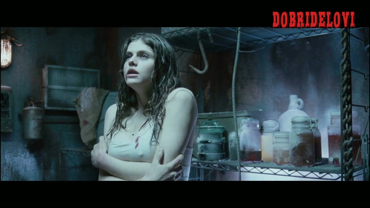 Shannon Lambert-Ryan dead naked and Alexandra Daddario shivering tits scene from Bereavement