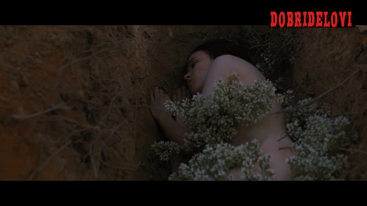 Ellen Page nude and dead in grave scene from The East