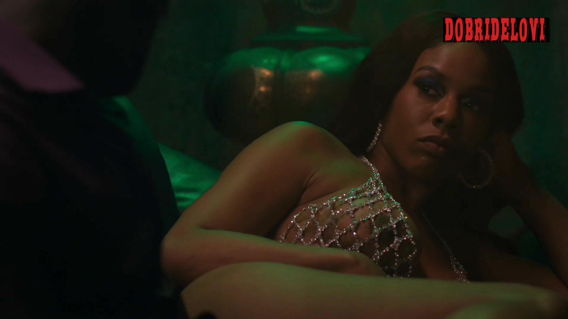 Brandee Evans beaded bra scene from P-Valley