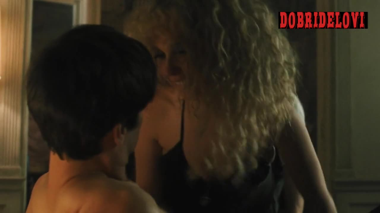 Juno Temple devil's threesome with James Jagger and Val Emmich scene from Vinyl