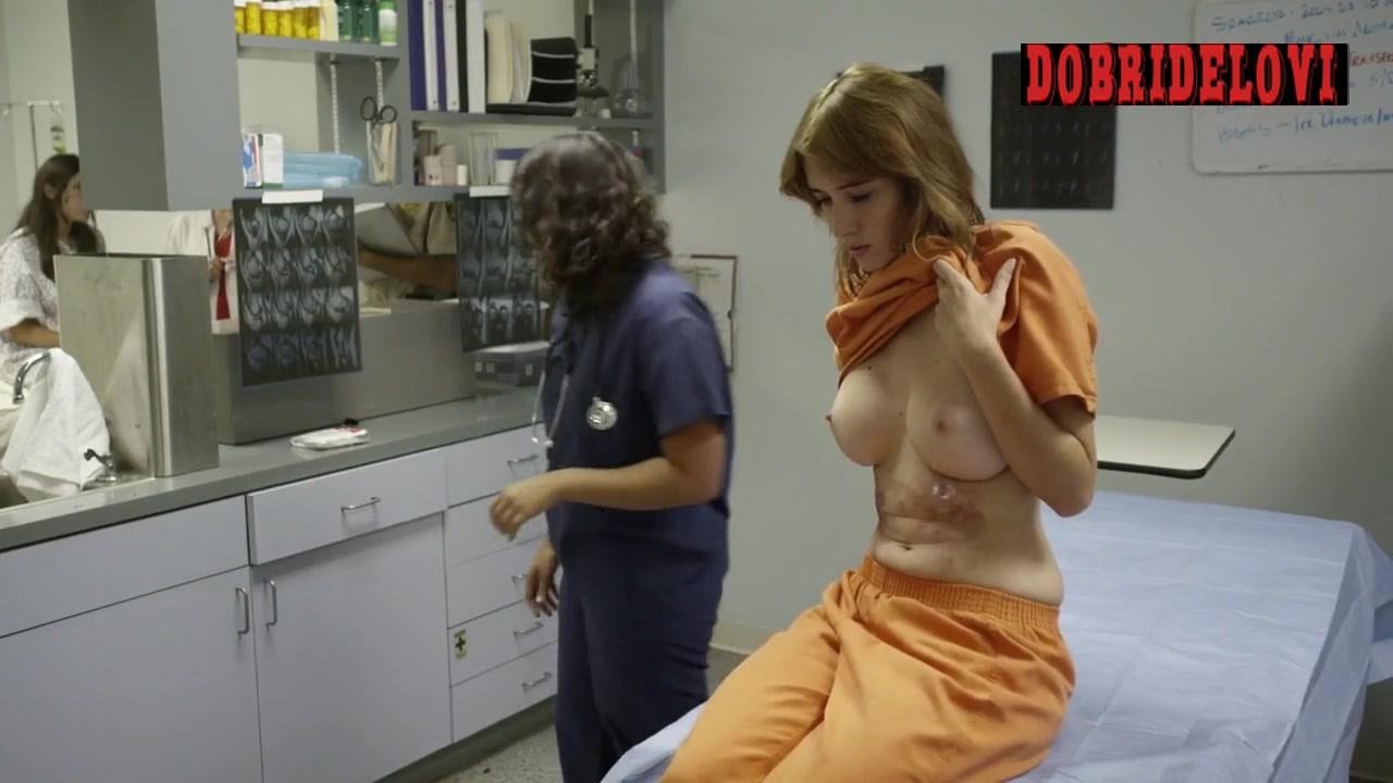 Sara Malakul Lane undresses in the doctor's office scene from Jailbait