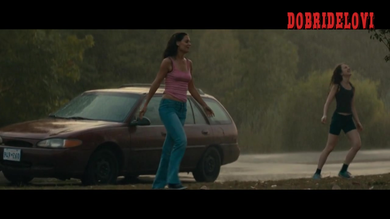 Katie Holmes pokies in the rain scene from All We Had
