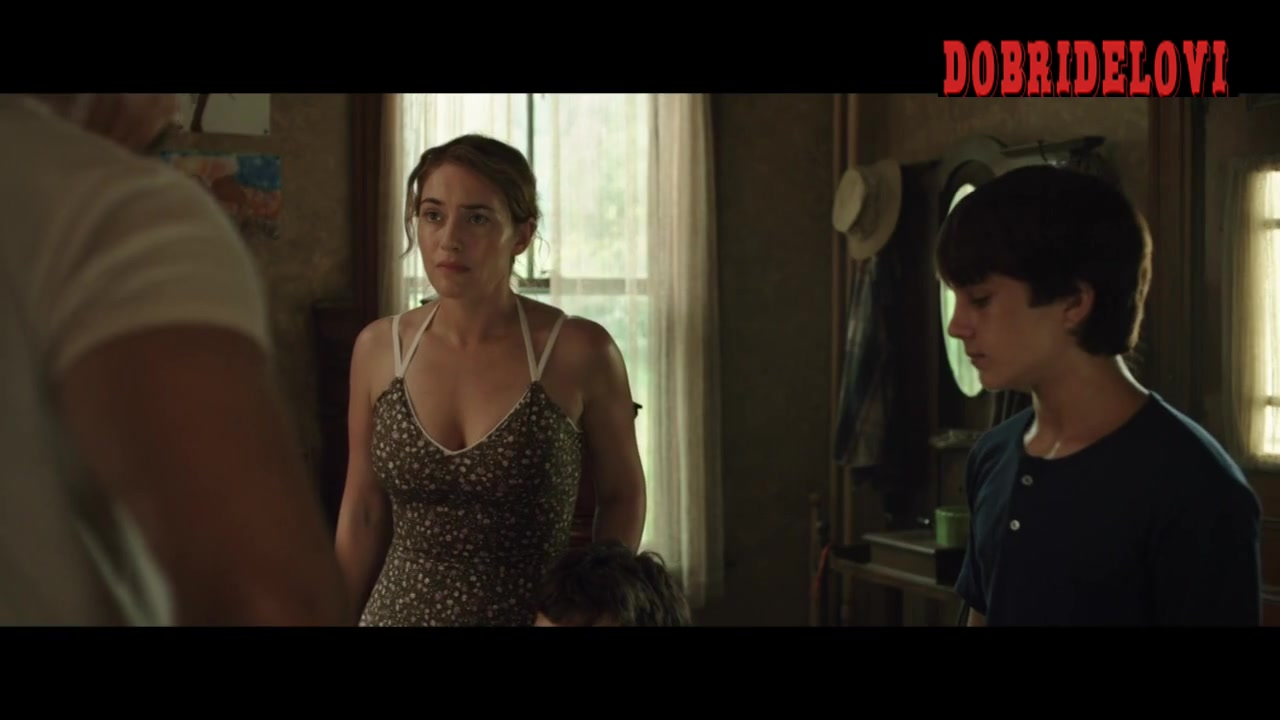 Kate Winslet sexy floral dress scene from Labor Day