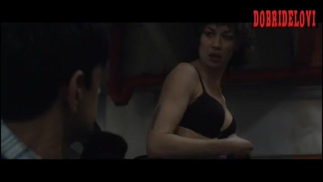 Olga Kurylenko undressing scene from The Courier