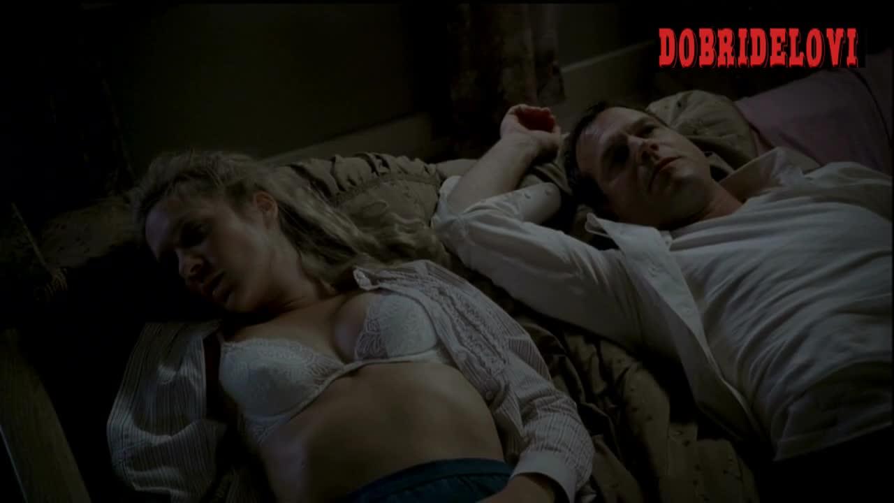 Chloë Sevigny sleeping in underwear next to Bill Paxton scene from Big Love