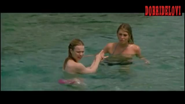 Rachel McAdams and Meredith Ostrom nude in the ocean scene from My Name is Tanino