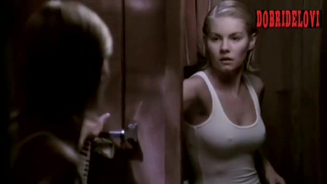 Elisha Cuthbert showing hard nipples through top scene from 24