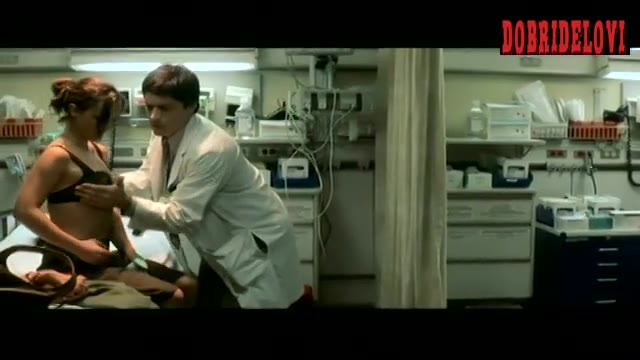 Christina Ricci body checked by doctor scene from Anything Else