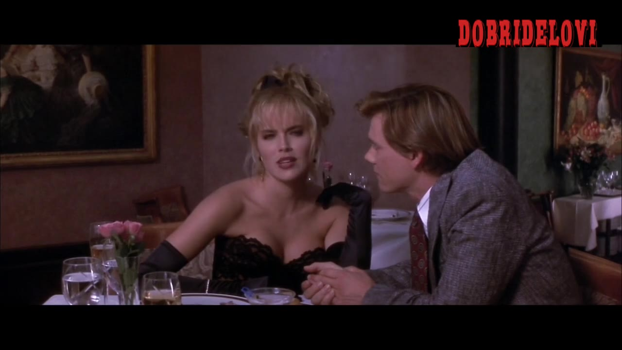 Sharon Stone cleavage in restaurant scene from He Said, She Said