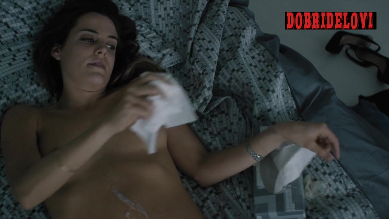 Riley Keough with cum on stomach after sex scene from The Girlfriend Experience