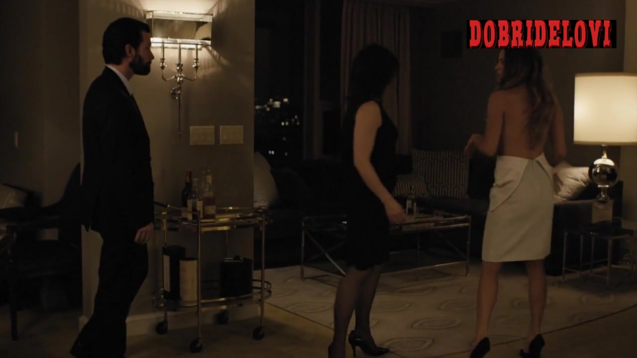 Riley Keough walks with unzipped dress scene from The Girlfriend Experience